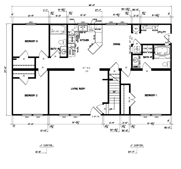 Birchwood Modular Ranch House - Prices and Plans | Modular Home