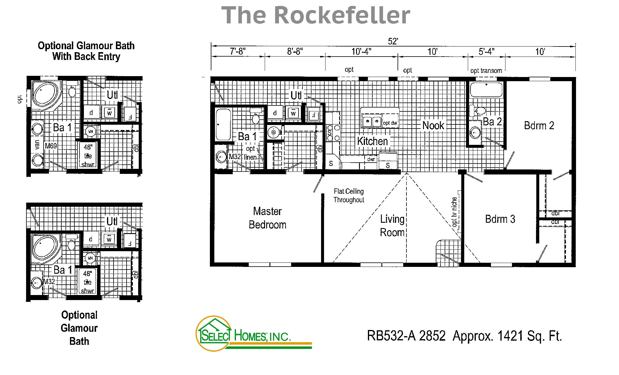 Rockefeller modular home floor plans by select homes inc for Select floor plans