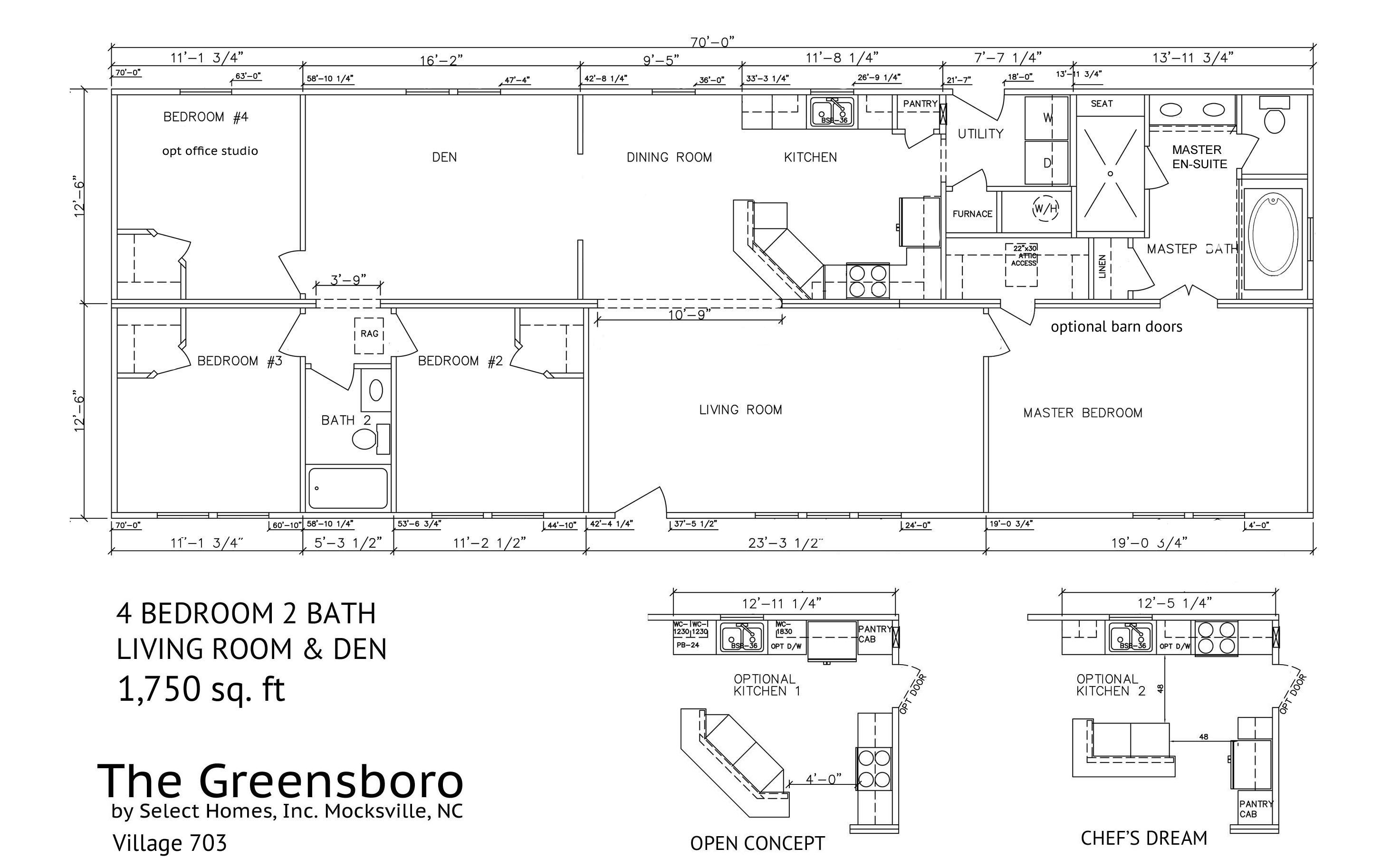 The Greensboro floor plan