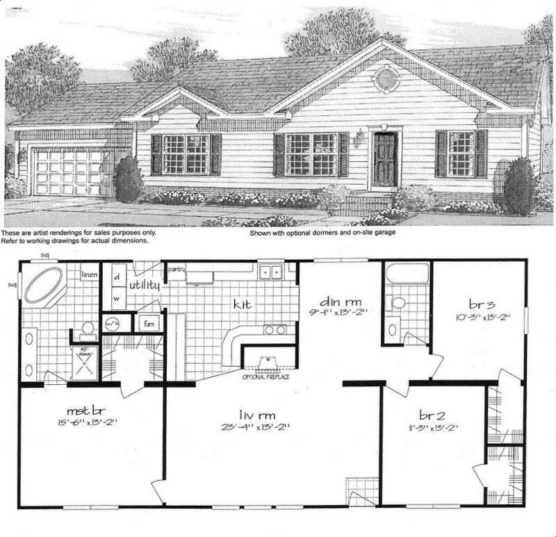 modular homes - floor plan model 9561