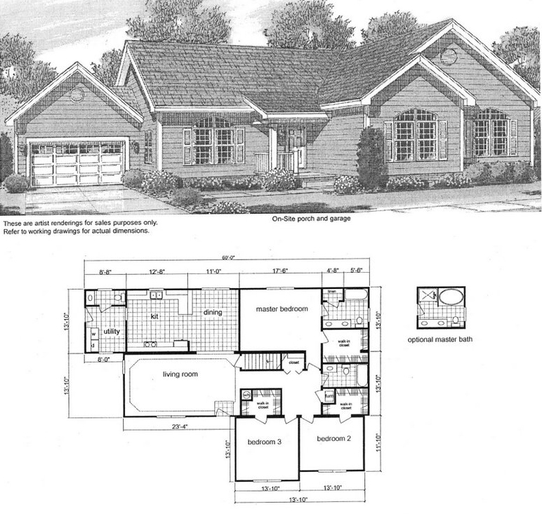 3 Bedroom Ranch Floor Plans House Plans