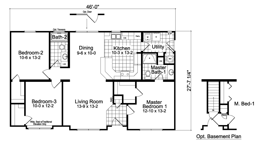 Modular homes oakdale 3 bedroom 2 bath 3 bedroom 2 bath house plans